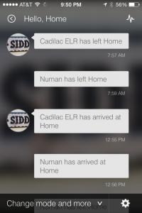SmartThings App Hello Home