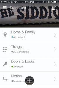 SmartThings App Home