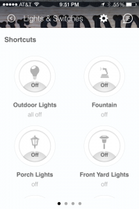 SmartThings App Lights & Switches